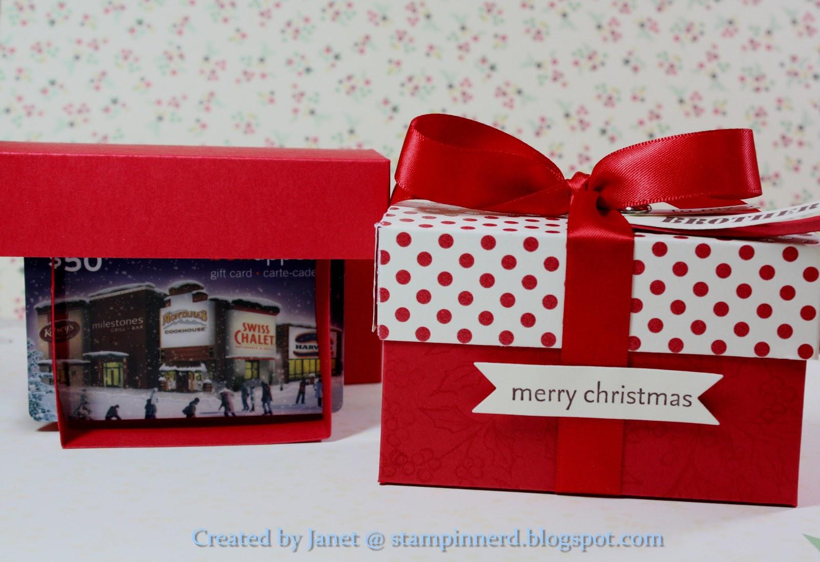 stampin nerd  pop-up gift card box
