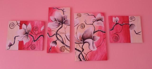 Mój własny różowy obraz DIY