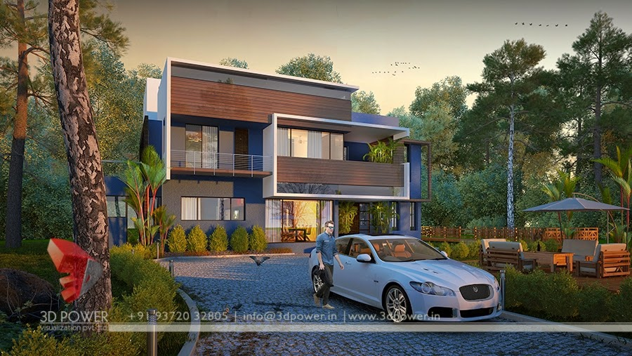 3D View Of  Bungalow