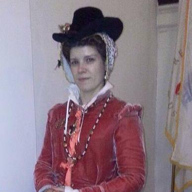 Mauve Waistcoat Elizabethan Gown