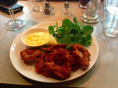 Crispy lemon squid, Bill's restaurant, Cardiff