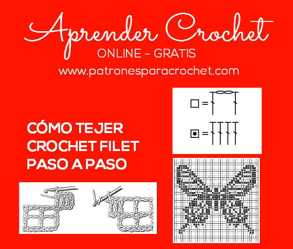 Aprende a tejer crochet filet