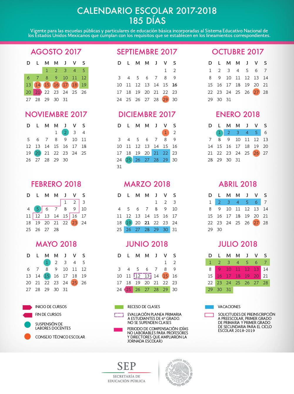 CALENDARIO  2017 -2018