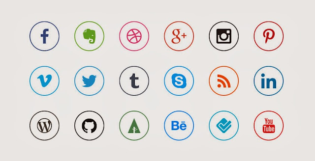 Ressources Web du Lundi #006 by Iscomigoo Webdesign: 20 Social Media Icons