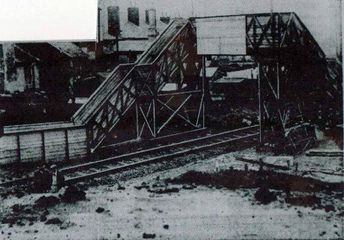 Footbridge during rebuilding