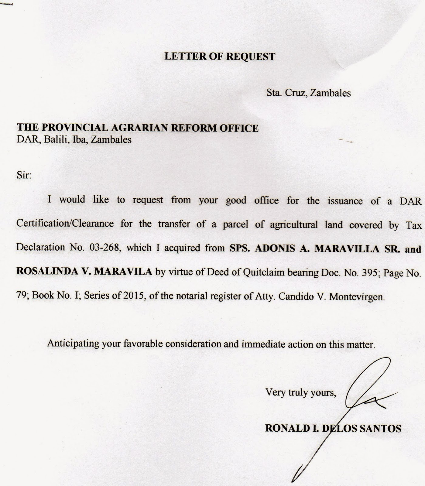 Riceland And Mangoes Deed Of Sale Absolute And More Legal Docs