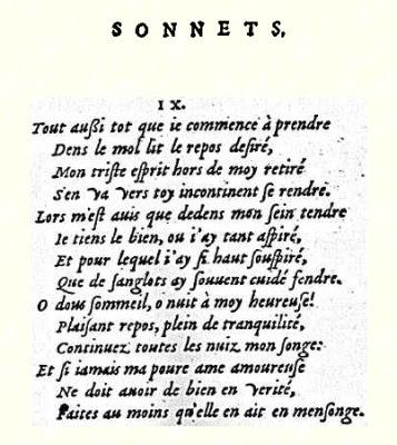 Sonnet IX (Louise Labé)