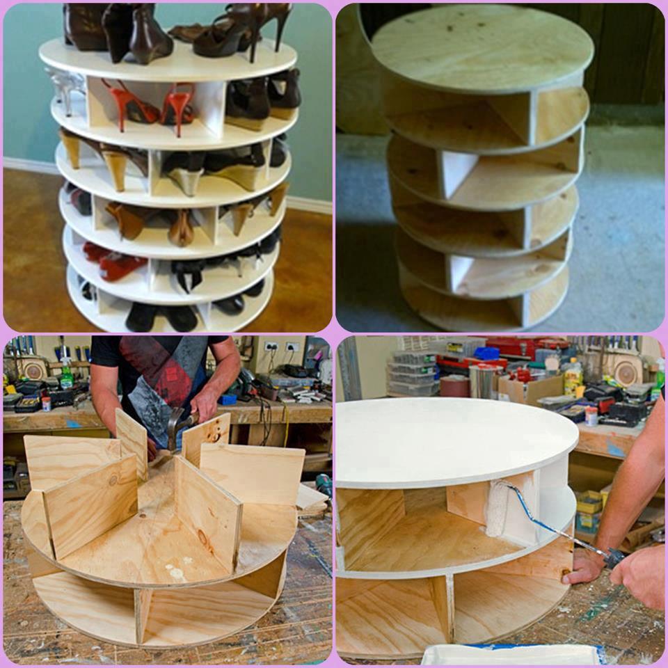 proyectos de manualidades zapatero madera casero