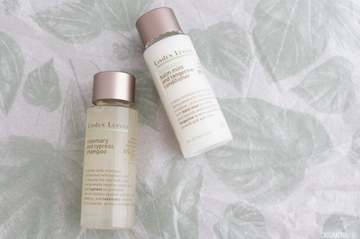 LINDEN LEAVES // Rosemary + Cypress Shampoo | Balm Mint + Tangerine Conditioner Review - CassandraMyee
