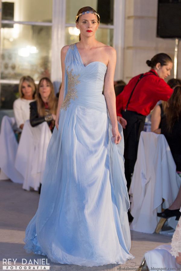 Moda verano 2016 vestidos de fiesta Claudia Arce. Six O'Clock Tea Edición N°22 primavera verano 2016