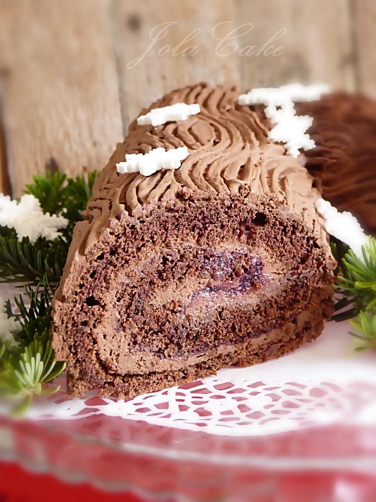 Gałąź wigilijna (ciasto kłoda) Bûche de Noël