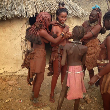 PHOTOS: BBA Winner Dillish Mathews Bares Boobs to Celebrate Himba Culture 2