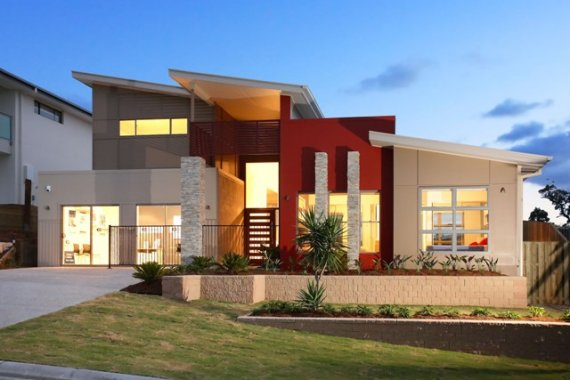 Modern home design begins with the lines of modern for Elevated modern house design