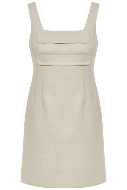 topshop unique pinafore, cream wool pinafore,