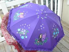Purple fairy red hat