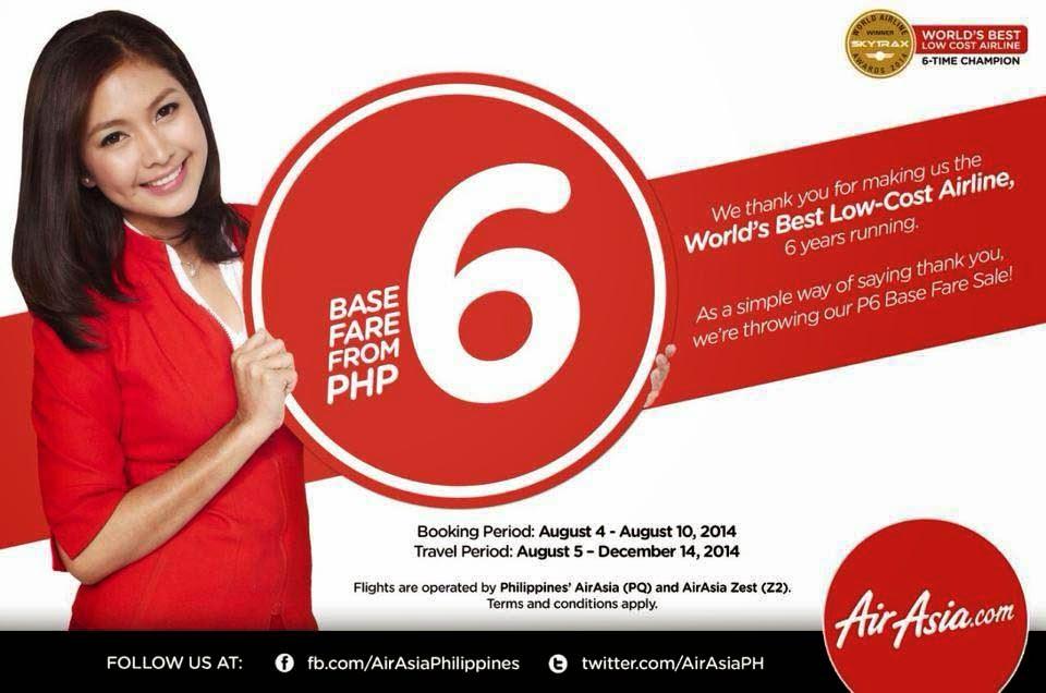 AirAsia P6 Promo Fares