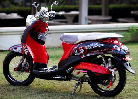 Yamaha Fino Sporty 2013 Modifikasi