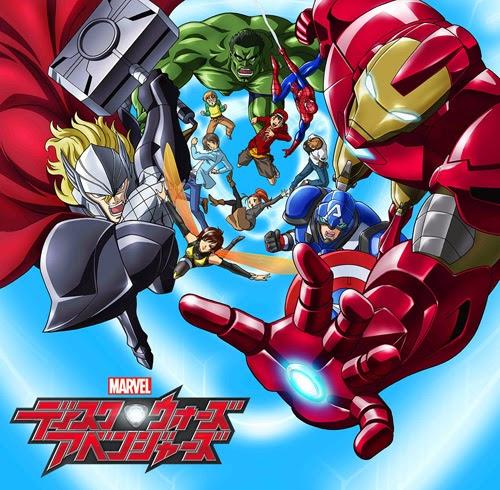Marvel Disk Wars The Avengers vendicatori cartone animato giappone