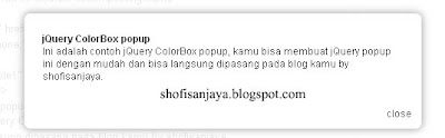 jQuery ColorBox popup