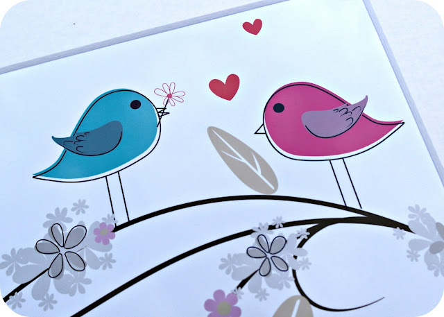 Little Pea & Bertie Birds on a Branch Print Close up
