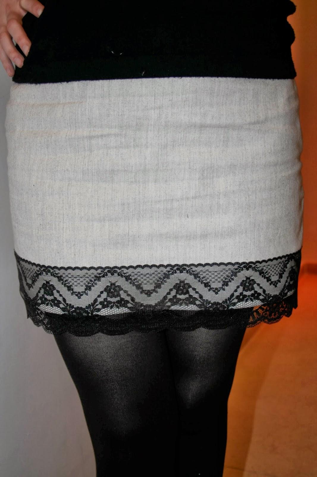 falda con forro rums españa falda lencera bajo encaje puntilla modistilla de pacotilla