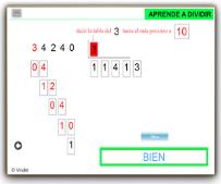 GENERADOR DE DIVISIONES POR 1, 2 ó 3 CIFRAS EN EL DIVISOR