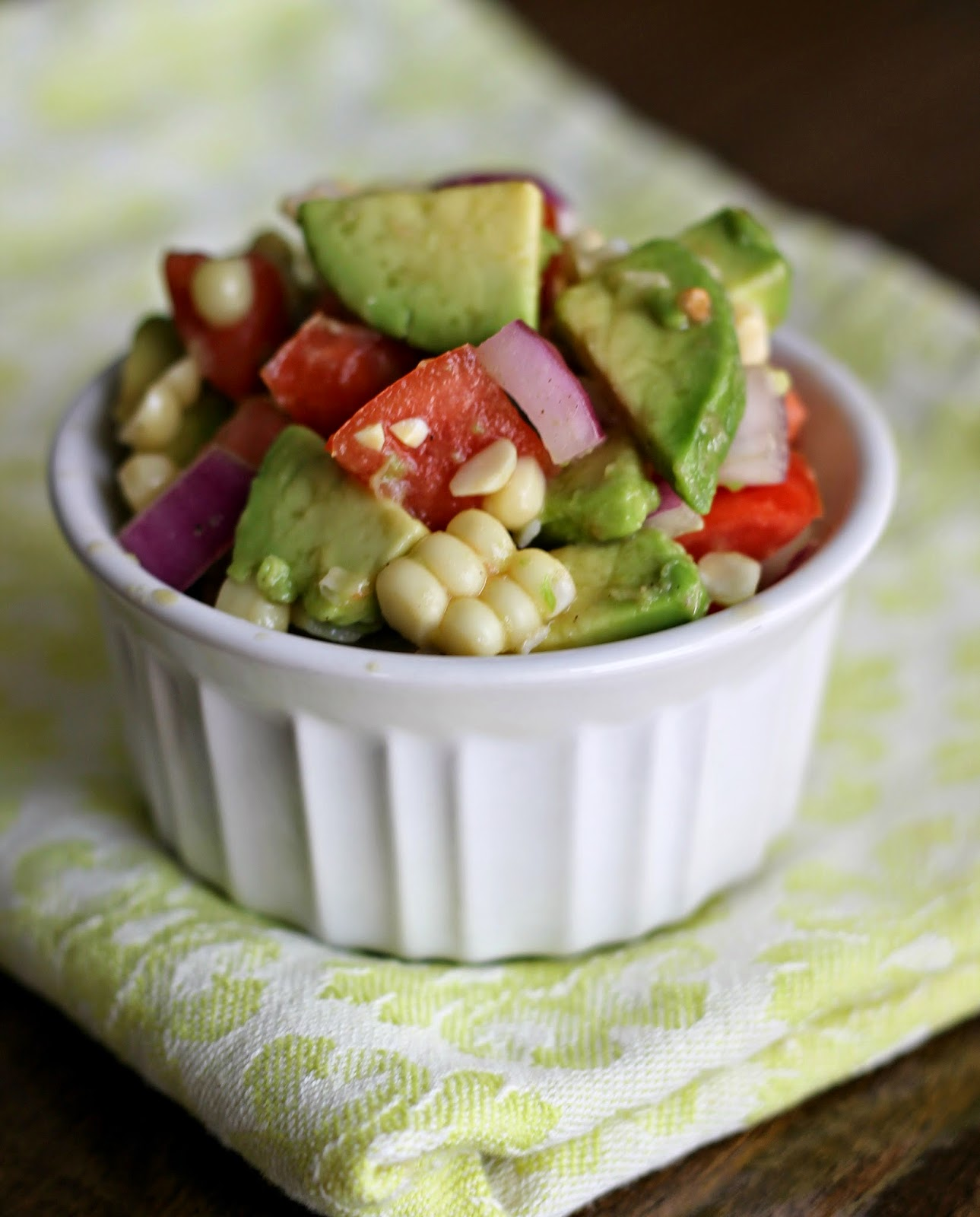 avocado corn tomato salad 1 2 ripe avocados diced 1 cup grape tomatoes ...