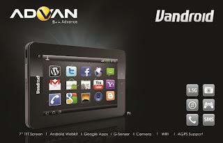 Tablet Vandroid seri T1-D merupakan generasi tablet android phone yang