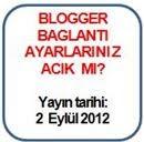 Blogger Baglantı Ayarları
