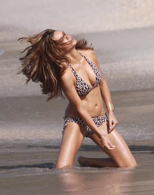 Adriana Lima Victoria's Secret Sexy Leopard Bikini Hot