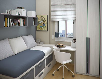 Simple and Minimalist Teen Bedroom Design by Sergi Mengot 9