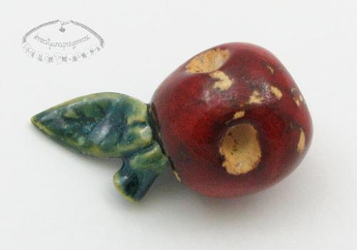Ceramiczny guzik w kształcie jabłka 2