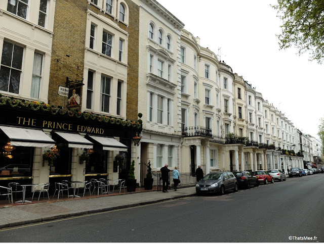 quartier chic Londres Portobello Pembridge pub Prince Edward