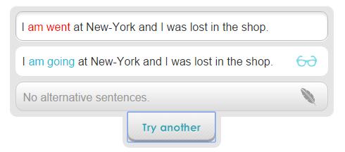 Ginger sentence correction