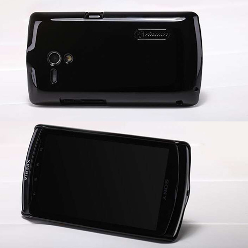 ... Colorful Hard Case for Sony Xperia neo L MT25i with Guard Film - Black