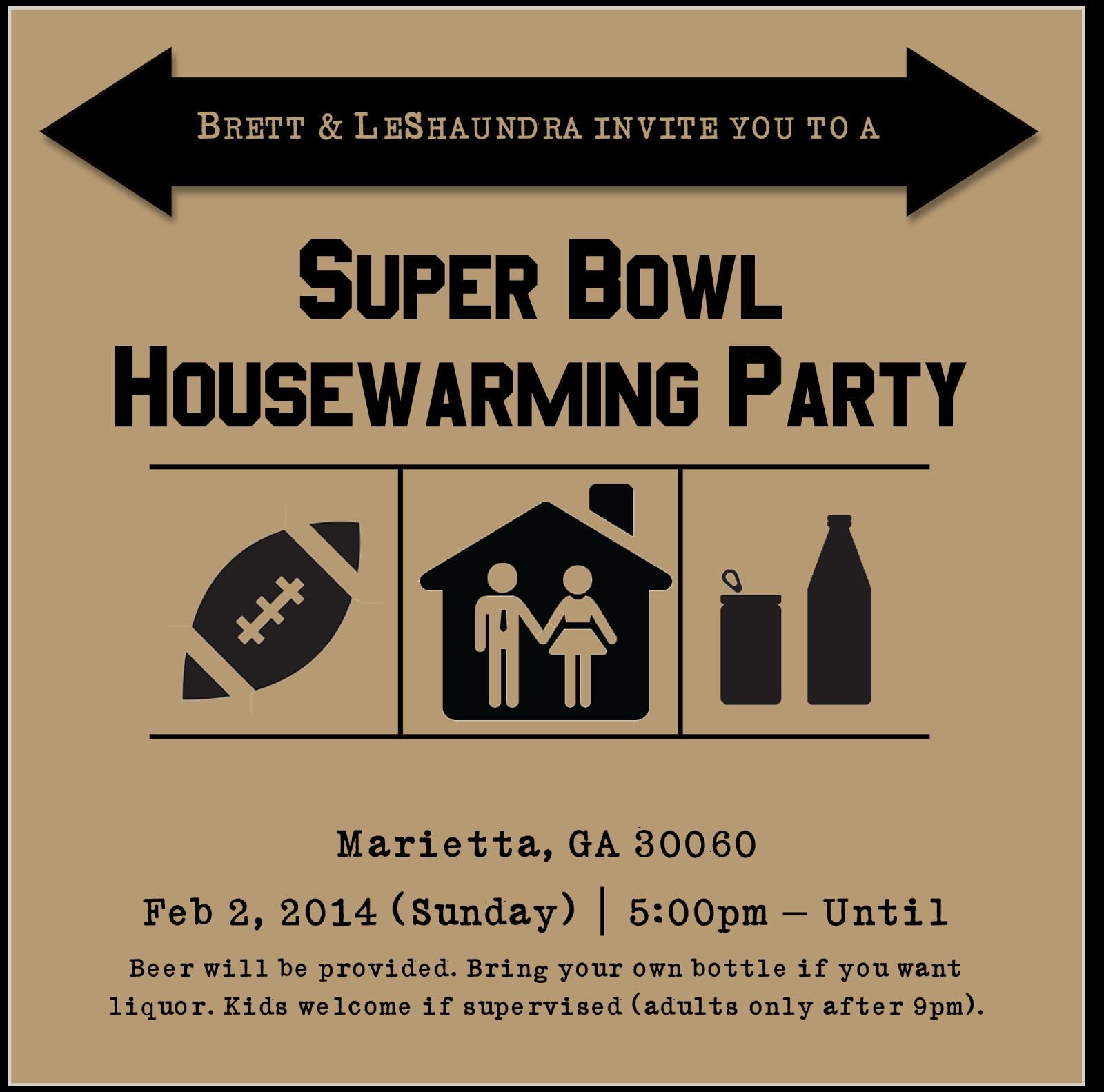 Super Bowl/Housewarming {Party Combos} | Cordier Events