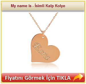 My name is - İsimli Kalp Kolye