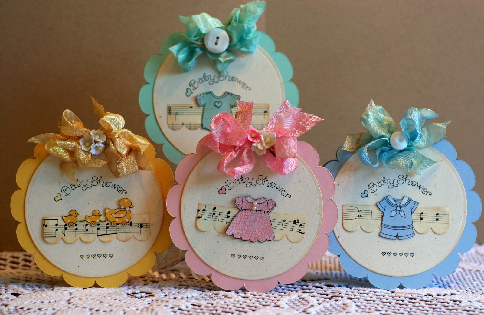 Sweet Baby Invites With Pink Persimmon