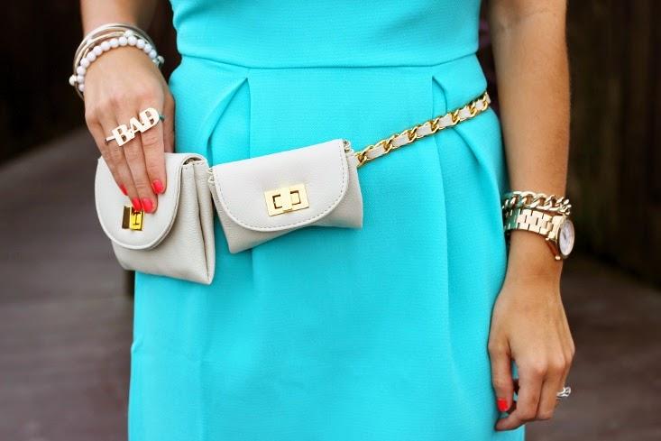 Erin Dana Evan Belt Bag with Chain