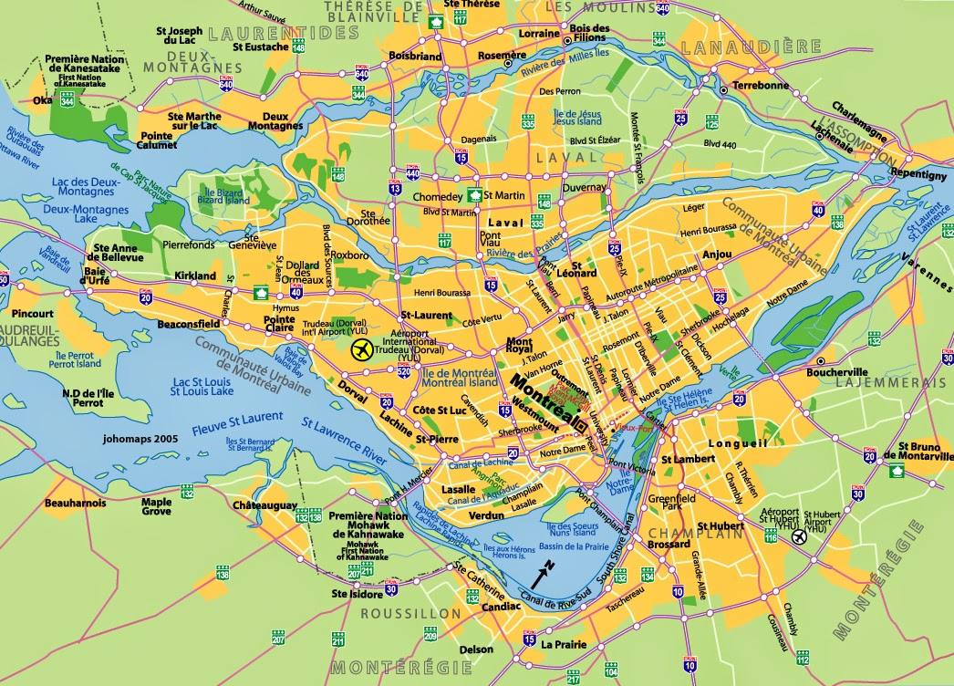 Montreal Quebec map
