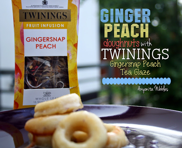 Ginger Peach Doughnuts with Twinings Gingersnap Peach Tea Glaze