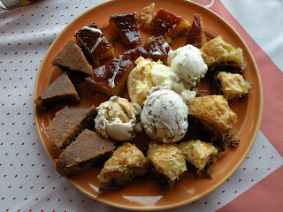 Home-baked, honey-dripping desserts in Corfu, Greece.  Photograph by Janie Robinson, Travel Writer