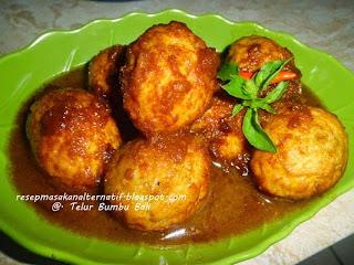 Resep Masakan Telur Bumbu Bali Enak Pedas