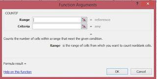 fungsi argumen rumus countif