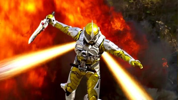 Kamen Rider Accel Booster Kamen Rider Accel Transforms