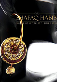 GOLD EARRING DESIGNS 2012-13 BY SHAFAQ HABIB