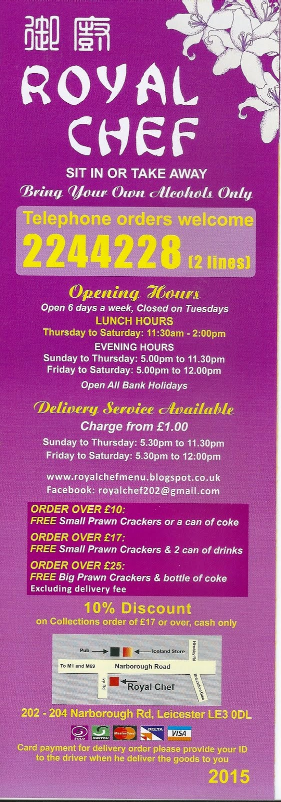 Royal chef Takeaways and restaurants...