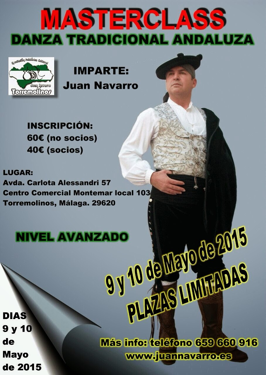 MASTERCLASS DE DANZA TRADICIONAL ANDALUZA