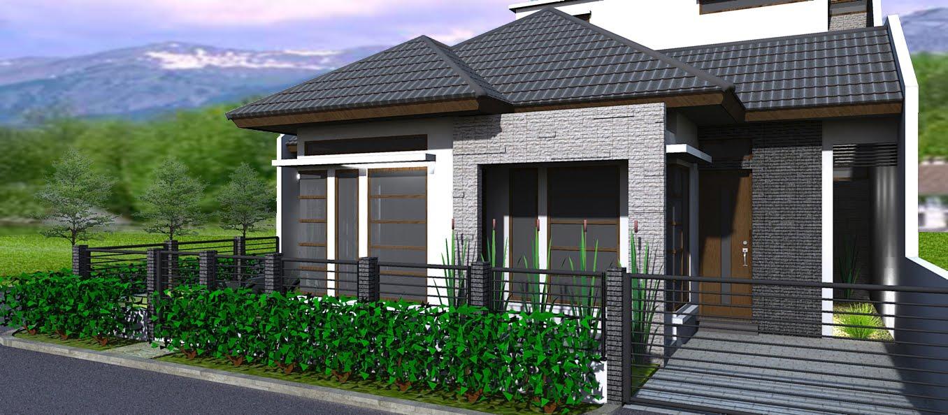 Rumah Minimalis LIS Desain Rumah Minimalis Tampak Depan Type 36
