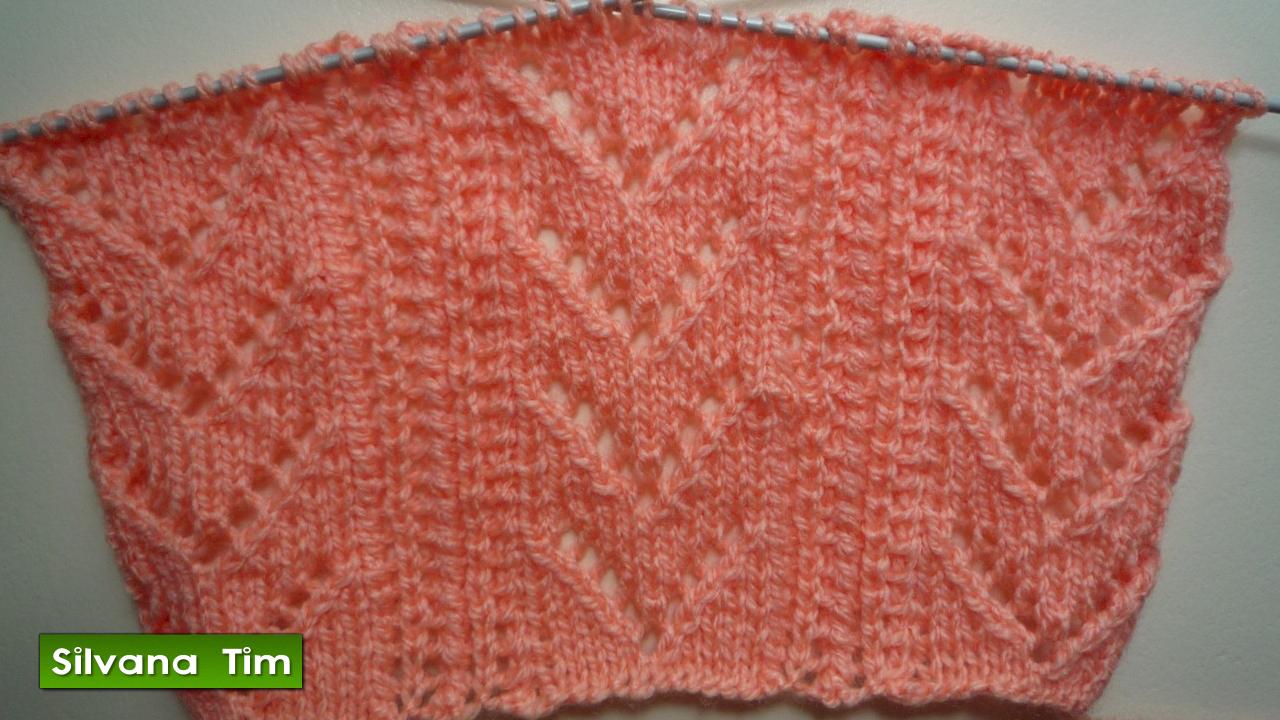 Silvana tim tejido con dos agujas puntos patrones de tejido punto puntada fantas a calado - Puntos para tejer con dos agujas ...